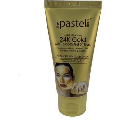 24k Gold Deep Cleansing Peel Off Mask with Collagen 50g - Beauty Krew