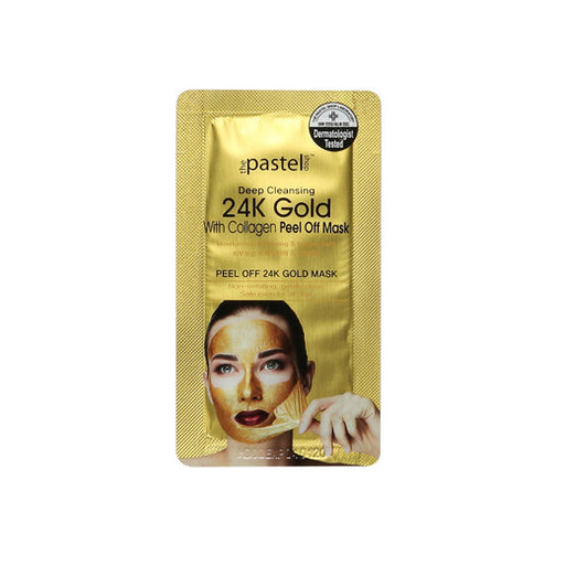 24k Gold Deep Cleansing Peel Off Mask with Collagen 10g - Beauty Krew