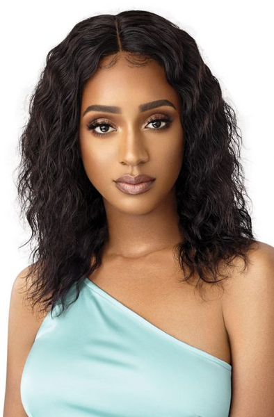 "Outre Mytresses Gold 100% Unprocessed Virgin Hair Wet and Wavy Lace Front Wig - Loose Deep 16"" - 18"" - Beauty Krew"
