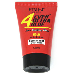 EBIN 4EVER ULTIMATE GLUE 1.25 OZ ULTRA SUPER, EXTREME FIRM AND EXTRA MEGA HOLD - Beauty Krew
