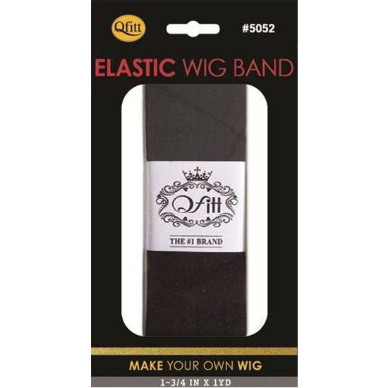 Qfitt Elastic Wig Band #5052- Black - Beauty Krew