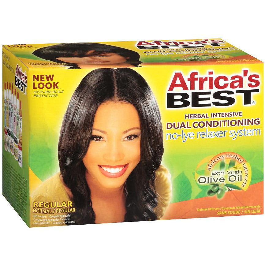 Africa's Best Regular No-lye Dual Conditioning Relaxer System (2 pack) - Beauty Krew