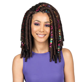 "BOBBI BOSS SYNTHETIC HAIR CROCHET BRAIDS AFRICAN ROOTS BRAID COLLECTION BAE LOCS 12"" - Beauty Krew"