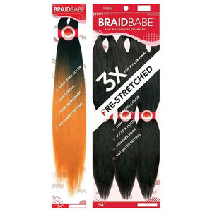 "BRAID BABE PRE-STRETCHED BRAIDING HAIR 3PCS PACK 54"" - Beauty Krew"