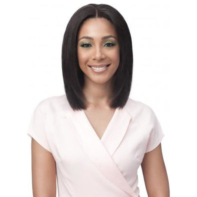 "Bobbi Boss Bundle Hair Human Hair Remy Hair Series Full Lace Wig - BNGLWST16 Straight 16"" - Beauty Krew"