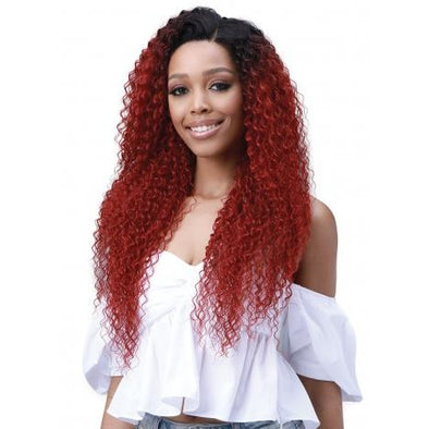 Bobbi Boss Miss Origin 13x6 Human Blend Frontal Wig - MOGLWJE26 Jerry Curl 26