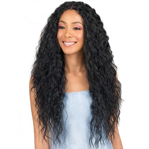 Bobbi Boss MBLF120-KIANA Human blend lace front wig - Beauty Krew