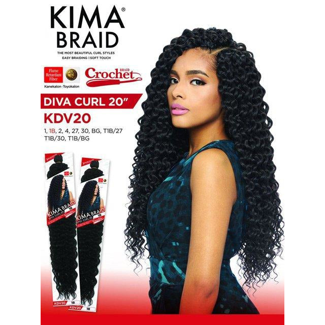 "Harlem 125 Kima Braid - Diva Curl 20"" - Beauty Krew"