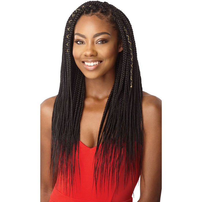 "Outre Xpression Box Braid Medium Natural Tip 90 Strands - 14"", 20"", 26"" - Beauty Krew"