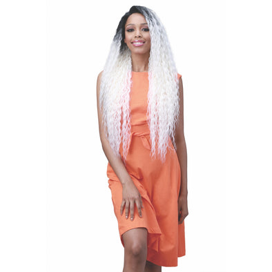 "Bobbi Boss Miss Origin Hand Tied 13x6 Human Hair Blend Lace Frontal Wig-Brazilian Wave 32"" (MOGLWBR32) - Beauty Krew"