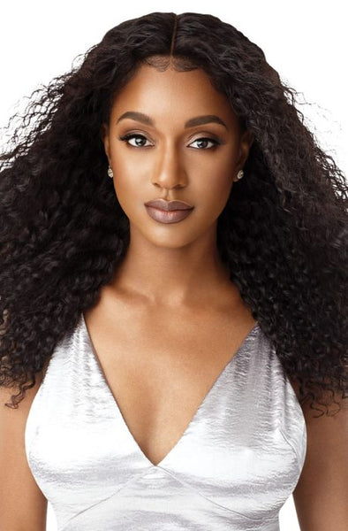 Outre Mytresses Black Human Hair Hand Tied 13x4 Lace Front Wig - Natural Bohemian - Beauty Krew