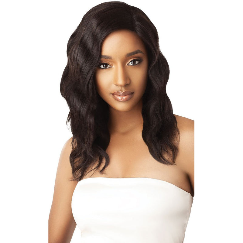 "Outre My Tresses Unprocessed Human Hair Hand-Tied 360 Lace Front Wig Natural Wave 20"" - Beauty Krew"