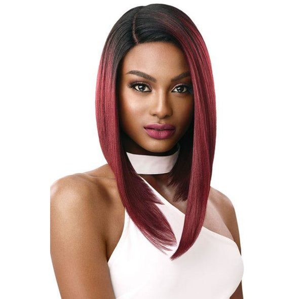 OUTRE SYNTHETIC HAIR LACE FRONT WIG SWISS LACE I PART TALIA - Beauty Krew