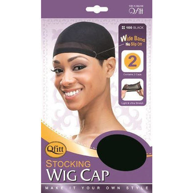 Qfitt Stocking Wig Cap (2pc/pack) Wide Band No Slip - Beauty Krew