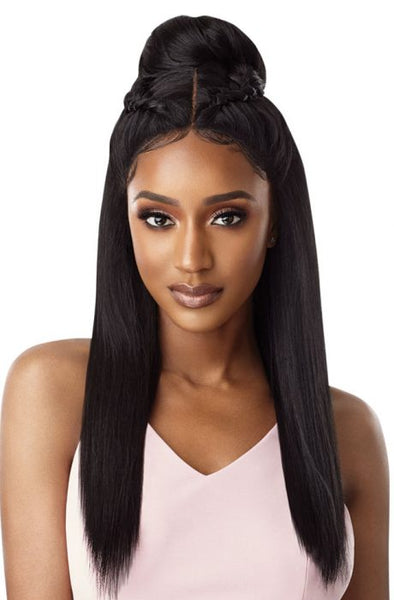 Outre Synthetic Swiss X Lace Front Wig - Tavia Blowout Straight - Beauty Krew