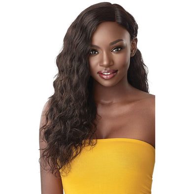 "Outre The Daily Wig Human Hair Lace Part Full Wig - Loose Curl 24"" - Beauty Krew"