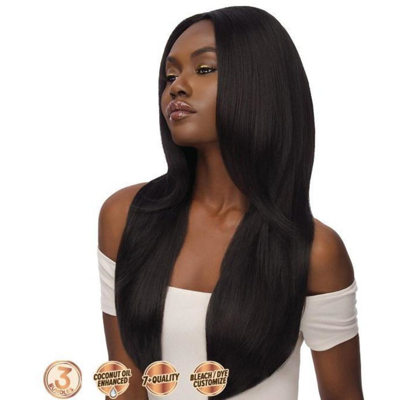 OUTRE SIMPLY 3 BUNDLES 100% UN-PROCESSED HUMAN HAIR WEAVE MULTIPACK - Beauty Krew