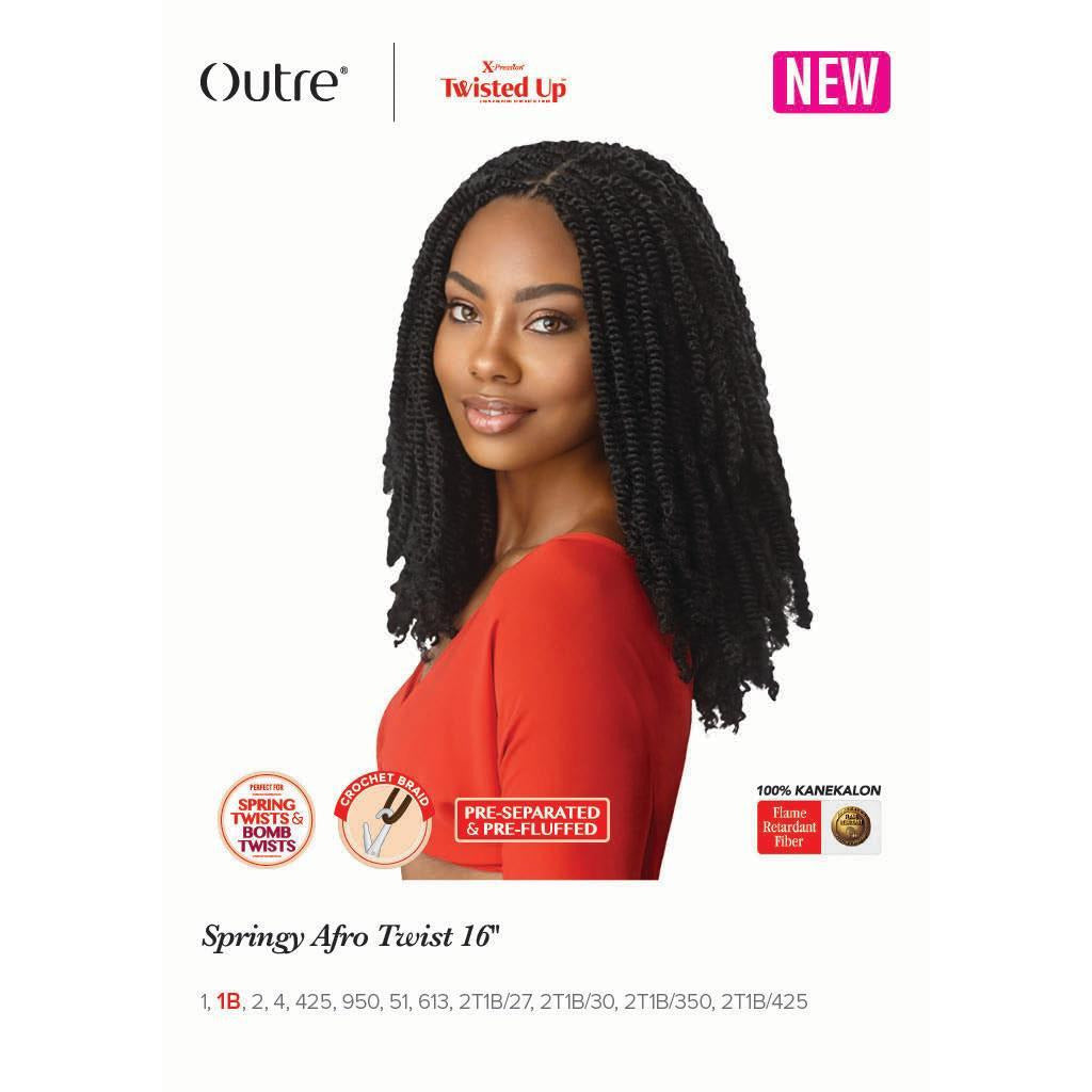 "Outre Xpression Twisted Up Springy Afro Twist 16"" - Beauty Krew"