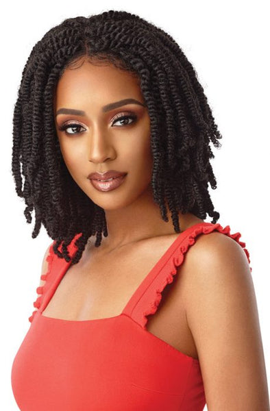 "Outre Synthetic X-pression Twisted Up 4x4 Lace Front Wig - Straight Bomb Twist 14"" - Beauty Krew"