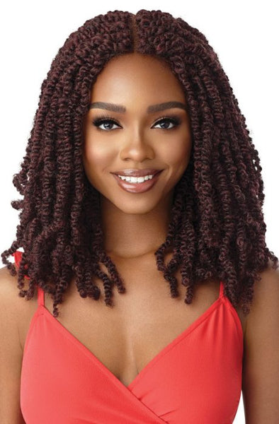"Outre Synthetic X-pression Twisted Up 4x4 Lace Front Wig - Wavy Bomb Twist 18"" - Beauty Krew"