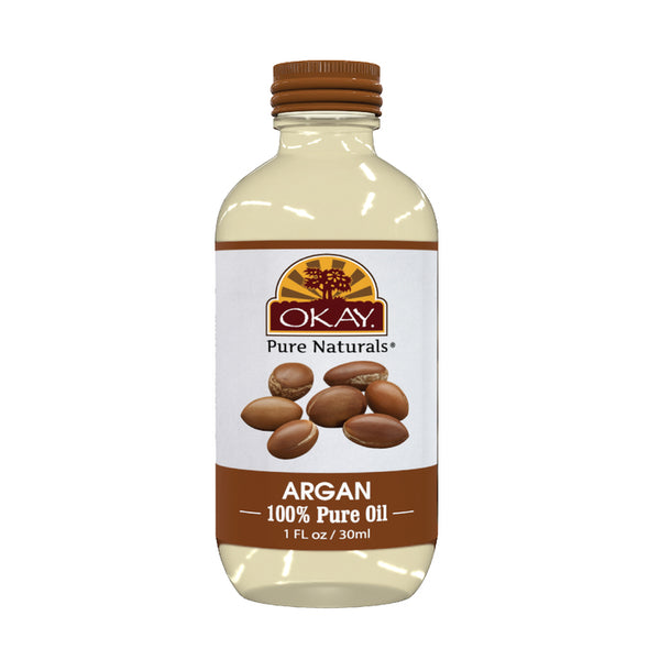 Okay Pure Naturals- Argan Oil 100% Pure Oil- Silicone and Paraben Free-1oz Made in USA - Beauty Krew