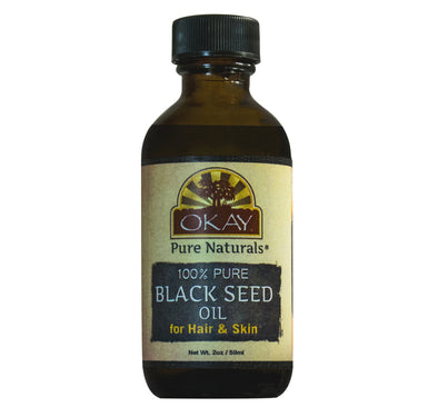 Okay Pure Naturals- Black Seed 100% Pure Oil- Silicone and Paraben Free-2oz Made in USA