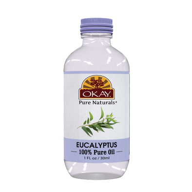 Okay Pure Naturals- Eucalyptus Oil 100% Pure Oil- Silicone and Paraben Free-1oz Made in USA - Beauty Krew