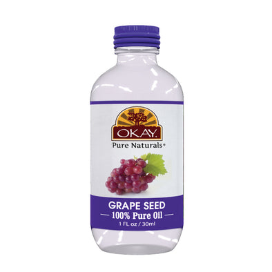 Okay Pure Naturals- Grape Seed Oil 100% Pure Oil- Silicone and Paraben Free-1oz Made in USA - Beauty Krew