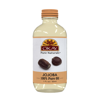 Okay Pure Naturals- Jojoba Oil 100% Pure Oil- Silicone and Paraben Free-1oz Made in USA