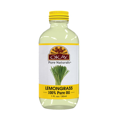 Okay Pure Naturals- Lemon Grass Oil 100% Pure Oil- Silicone and Paraben Free-1oz Made in USA