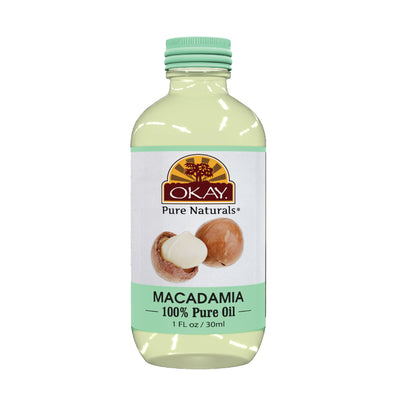 Okay Pure Naturals- Macadamian Oil 100% Pure Oil- Silicone and Paraben Free-1oz Made in USA - Beauty Krew