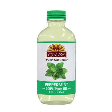 Okay Pure Naturals- Peppermint Oil 100% Pure Oil- Silicone and Paraben Free-1oz Made in USA