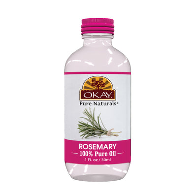 Okay Pure Naturals- Rosemary Oil 100% Pure Oil- Silicone and Paraben Free-1oz Made in USA