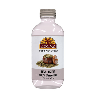 Okay Pure Naturals- Tea Tree Oil 100% Pure Oil- Silicone and Paraben Free-1oz Made in USA - Beauty Krew
