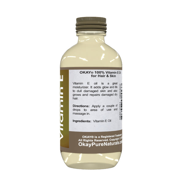 Okay Pure Naturals- Vitamin E Oil 100% Pure Oil- Silicone and Paraben Free-1oz Made in USA - Beauty Krew
