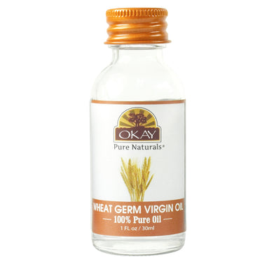 Okay Pure Naturals- Wheat Germ Oil 100% Pure Oil- Silicone and Paraben Free-1oz Made in USA - Beauty Krew