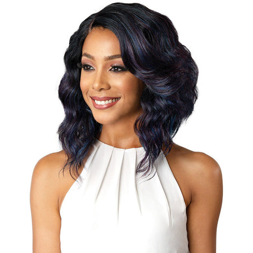 "Bobbi Boss Synthetic Lace Front Wig MLF181 4"" Deep J Part Denna - Beauty Krew"