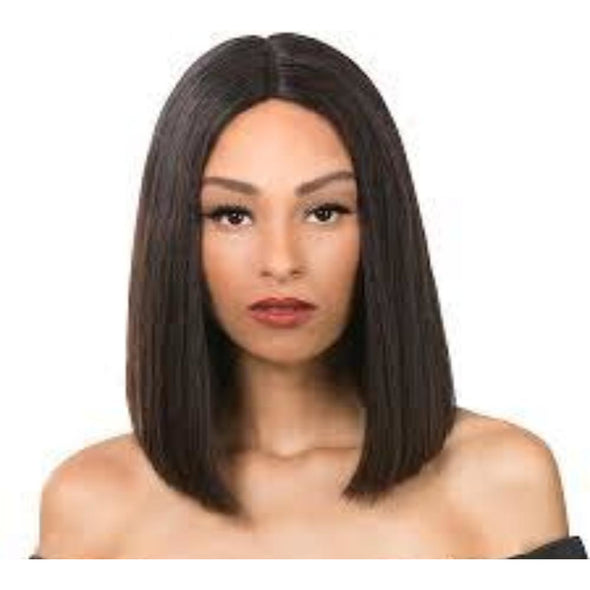 EBIN NEW YORK WIG DRESS 100% BRAZILIAN HUMAN HAIR 10A BLUNT CUT 360 EVEN LAYER - Beauty Krew