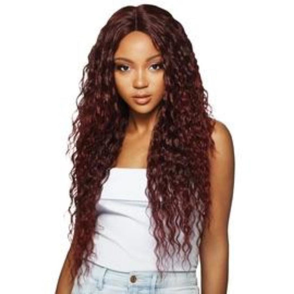 "OUTRE SYNTHETIC HAIR LACE FRONT WIG SWISS LACE 6"" DEEP PARTING KASSIDY - Beauty Krew"