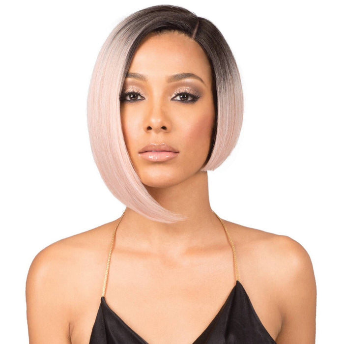 "BOBBI BOSS SYNTHETIC LACE FRONT WIG MLF219 5"" DEEP PART NADINE SHORT - Beauty Krew"