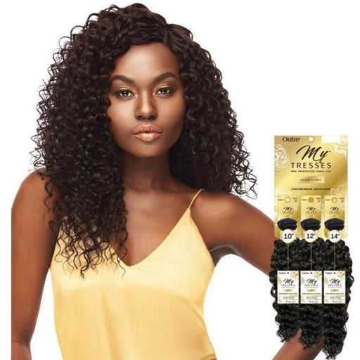 Outre Mytresses Gold Label 100% Unprocessed Human Hair Weave Natural Boho Deep 10-22 inch - Beauty Krew