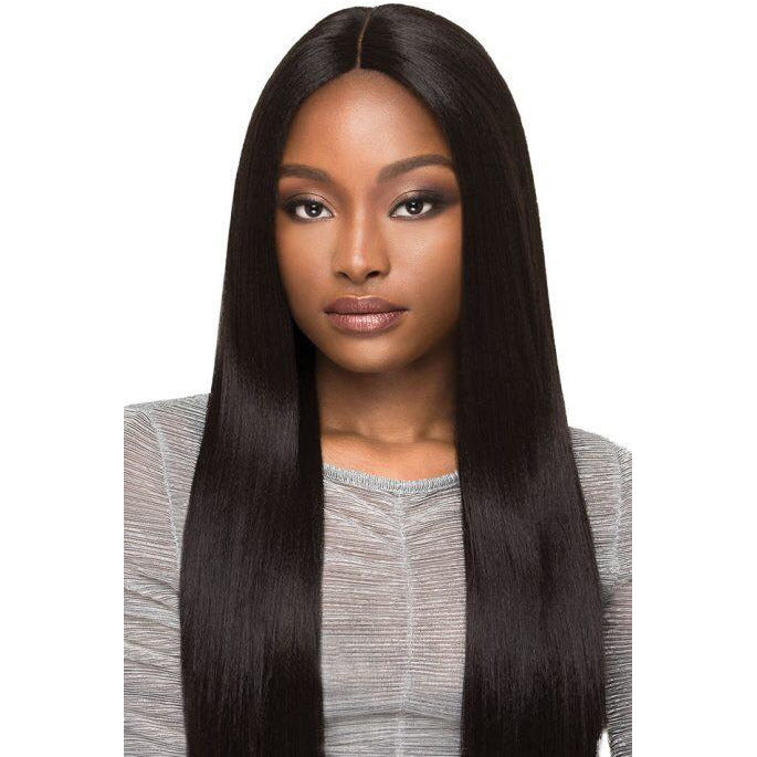 "OUTRE SYNTHETIC HAIR LACE FRONT WIG BRAZILIAN BOUTIQUE 4"" DEEP FREE PART LACE WIG SLEEK PRESSED - Beauty Krew"
