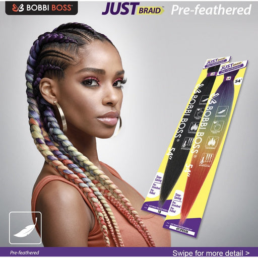 "Bobbi Boss Just Braid Pre Feathered 54"" - Beauty Krew"