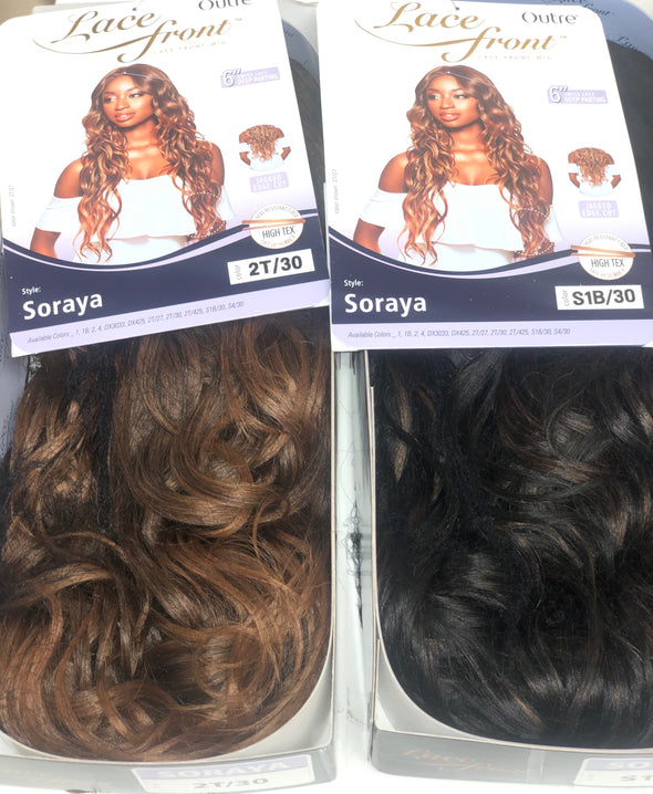 Outre Synthetic Lacefront Wig - Soraya - Beauty Krew