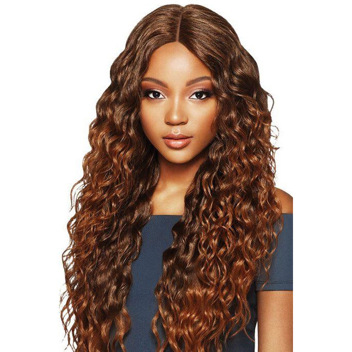 "OUTRE SYNTHETIC HAIR LACE FRONT WIG SWISS LACE 6"" DEEP PARTING AMARA - Beauty Krew"