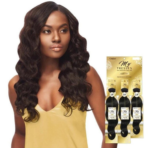 Outre Mytresses Gold Label 100% Unprocessed Human Hair Weave Natural Ocean Body 10-22 inch - Beauty Krew
