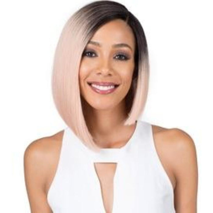 "BOBBI BOSS SYNTHETIC LACE FRONT WIG MLF201 5"" DEEP PART NADINE - Beauty Krew"