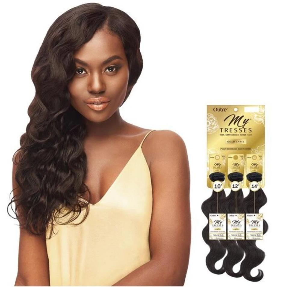Outre Mytresses Gold Label 100% Unprocessed Human Hair Weave Natural Body 10-22 inch - Beauty Krew