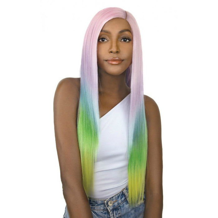 IT'S A WIG SYNTHETIC UNICORN COLOR LACE FRONT WIG - Beauty Krew