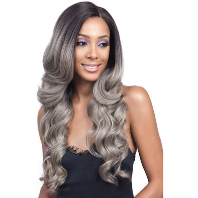"Bobbi Boss 13""x4"" Hand-Tied Swiss Lace Front Wig MLF224 KEESHANA - Beauty Krew"